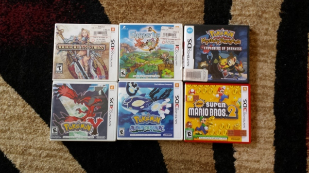 5 3DS games and a DS game